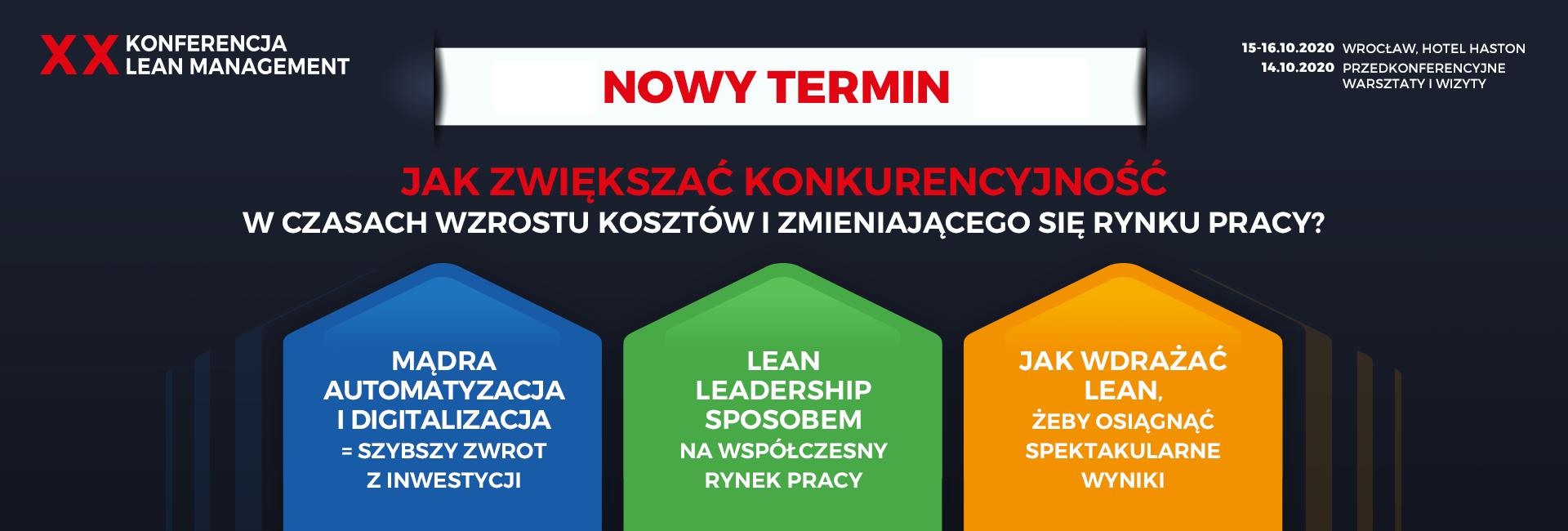 Konferencja Lean Management Wrocław, 3-5 czerwca 2020